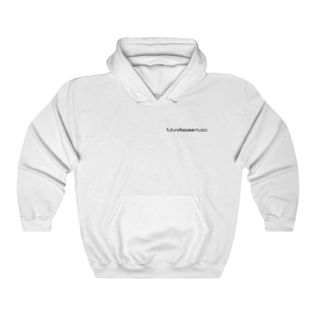 Future House Music Hoodie - White